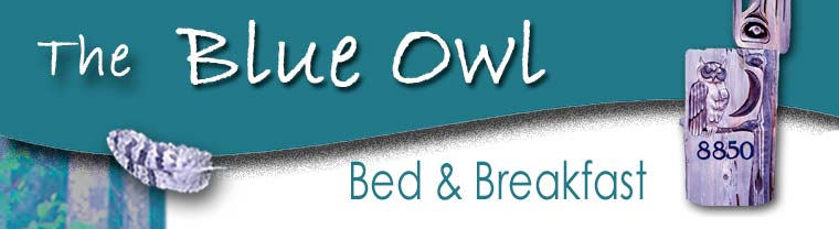Blue Owl - cozy accommodations on Denman Island, BC, Canada